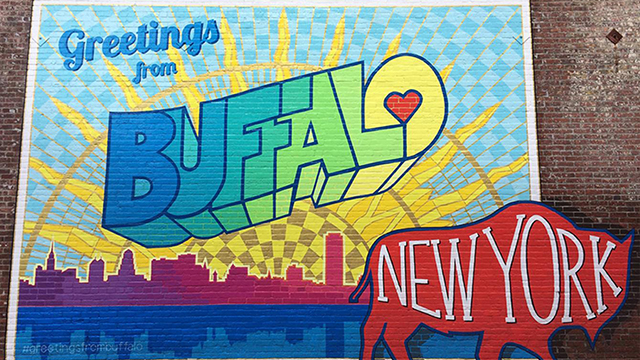Greetings from Buffalo, New York postcard.