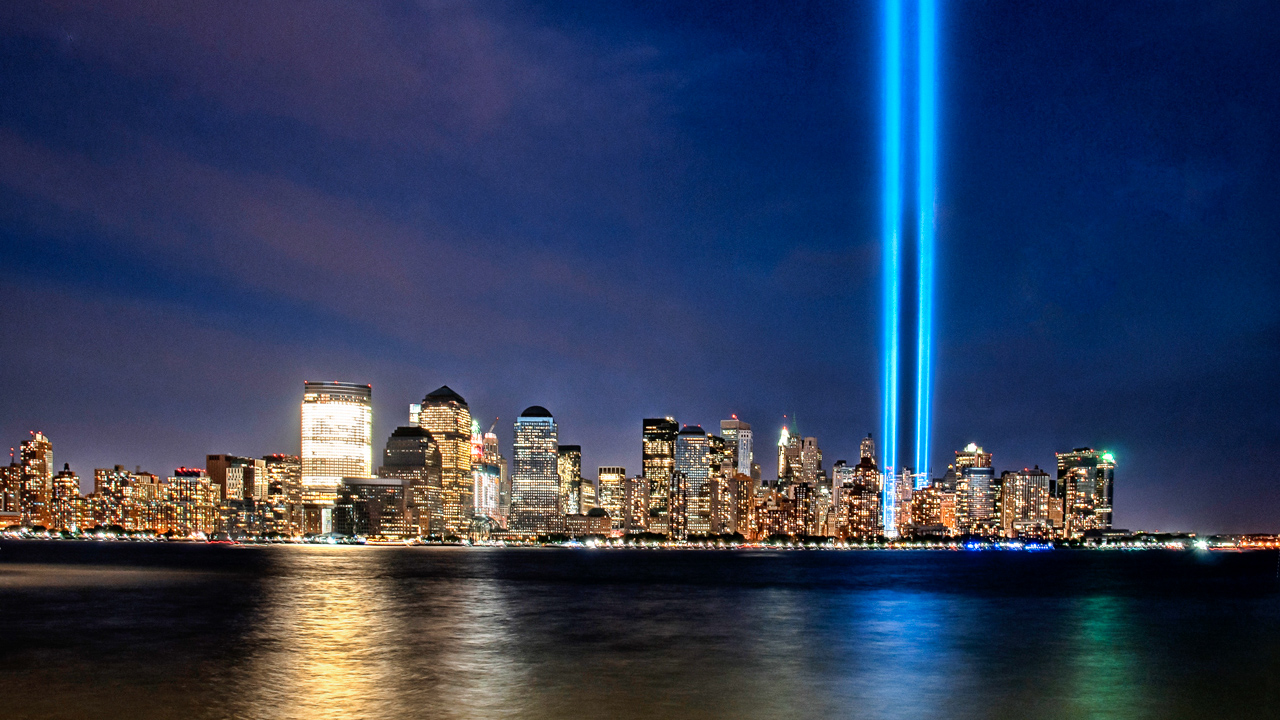 The 9-11 Tribute in Light.