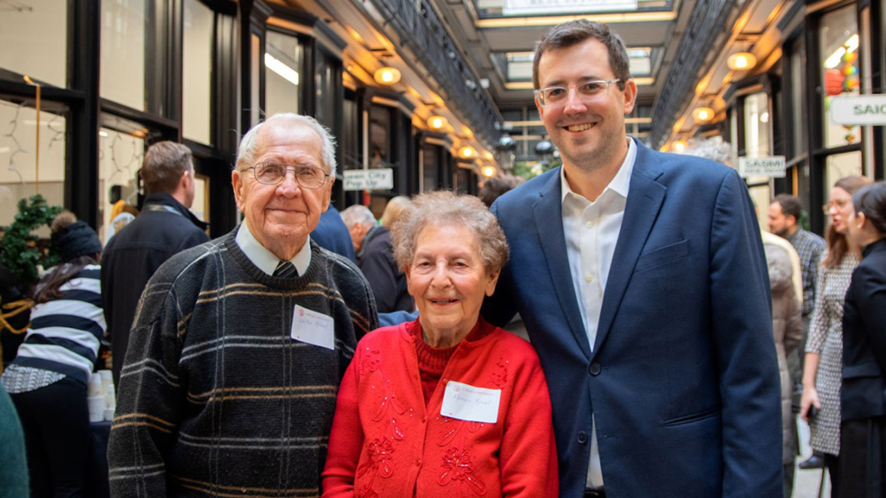 Matthew Nagowski with his grandparents, Wally and Florence Kowal